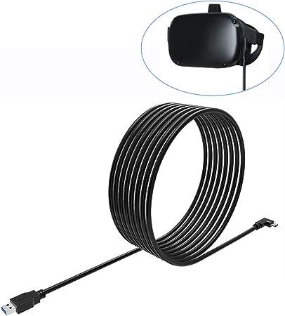 Eyglo C/âble de Charge USB 3.0 Type-C C/âble de Transfert Ultra Rapide pour Oculus Quest Link VR C/âble de Charge Rapide pour Tablette T/él/éphone 3 m