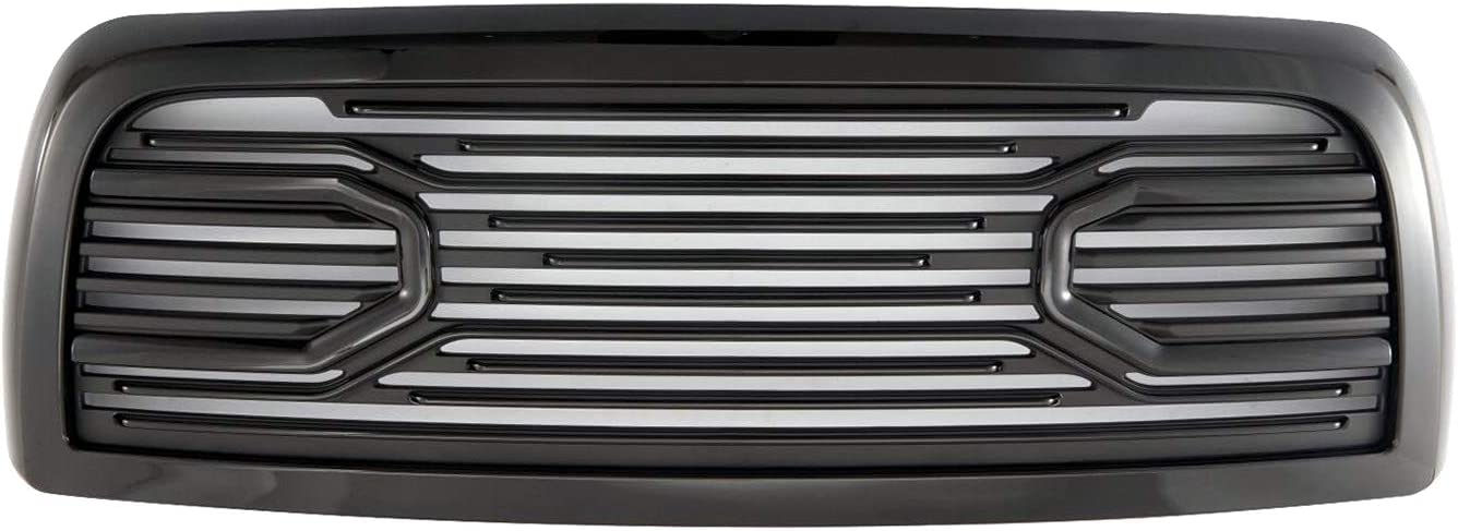 Paragon Front Grille for 2010-18 Dodge Ram 2500//3500 Chrome//Black RAM Style Grill Grilles with Mesh