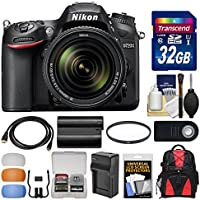 Nikon D7200 Wi-Fi Digital SLR Camera & 18-140mm VR DX Lens with 32GB Card + Backpack + Battery/Charger + Filter + Remote + Kit Noticeable Review Image