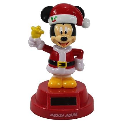 Christmas Minnie Mouse Head.Disney Holiday Christmas Minnie Mouse Solar Bobble Head