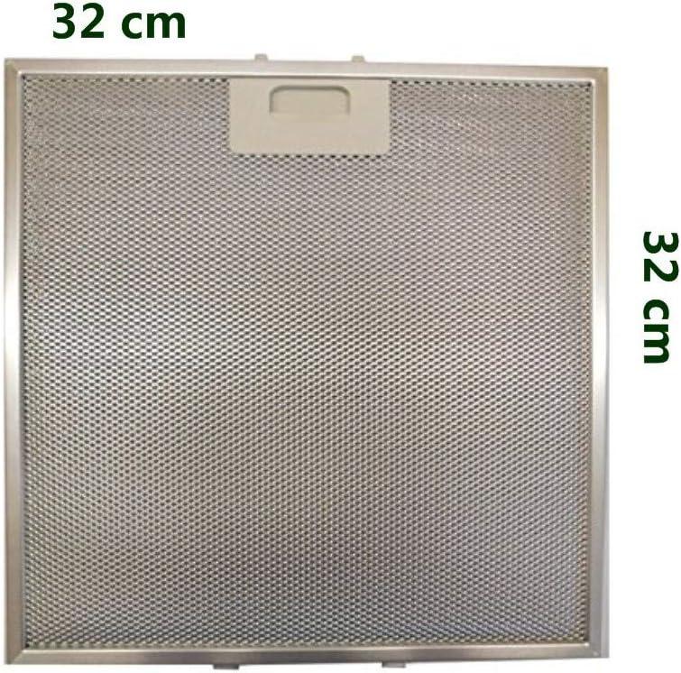 Filtro de aluminio metálico campana hélice 32 x 32 hélice circo, barrera coral cristal plano Ix icónico: Amazon.es: Hogar