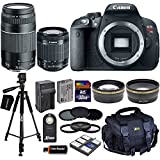 Canon EOS Rebel T5i DSLR Camera with 18-55mm IS STM & 75-300mm III Zoom Lenses + Tele & Wide Lenses + ND Filters ND2, ND4, ND8 + 15pc 32GB Deluxe Accessory Kit - International Version