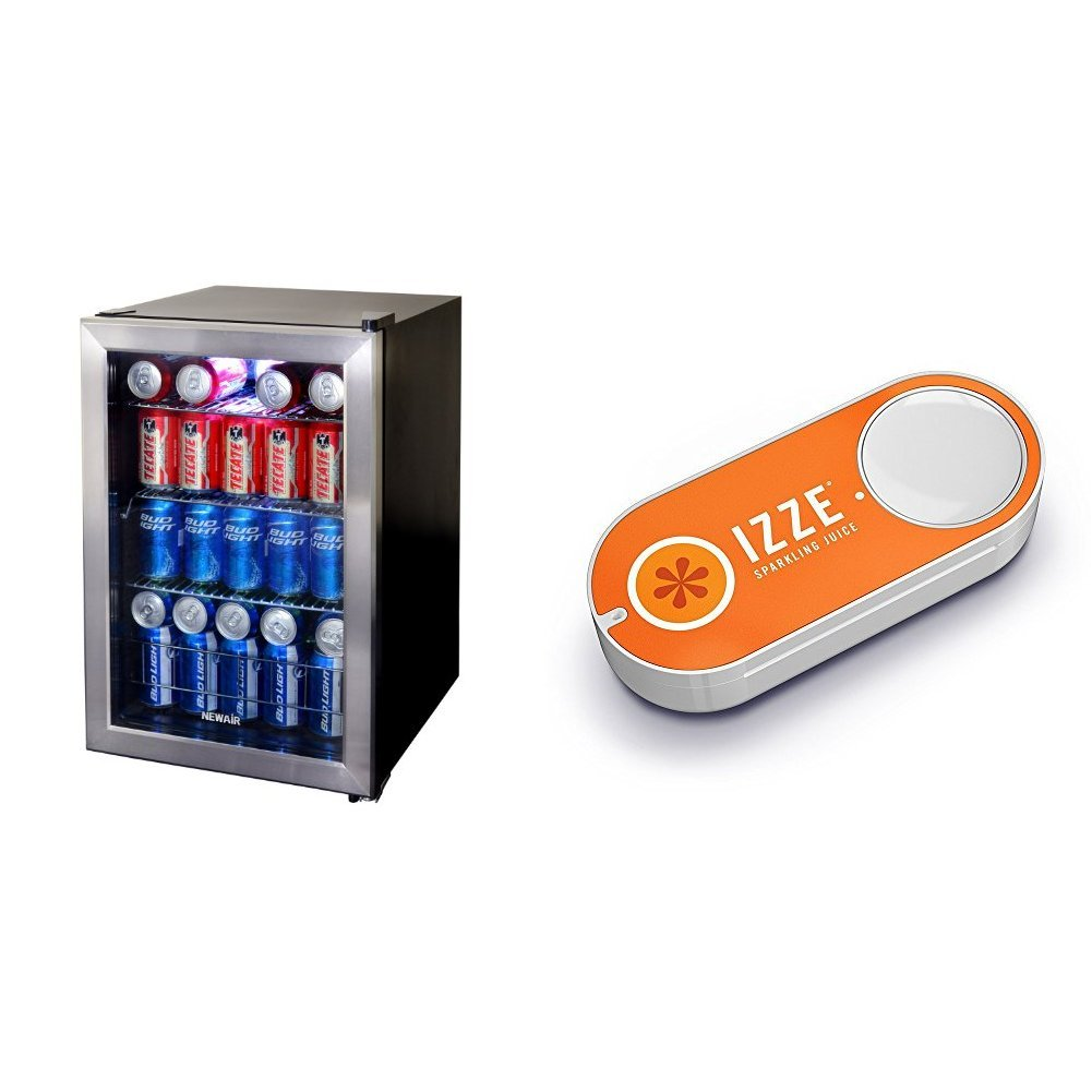 NewAir AB-850 84-Can Beverage Cooler, Cools to 34 Degrees & Izze Dash Button