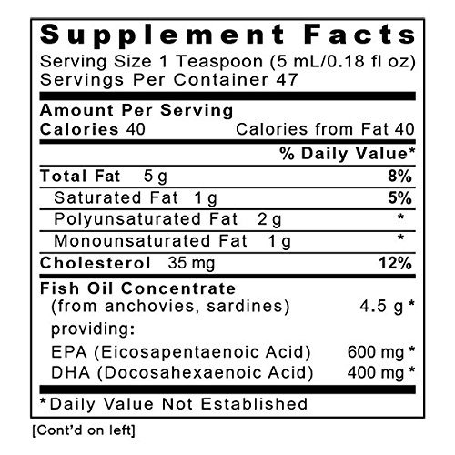 Quantum EPA/DHA, 32 fl oz (4 Bottles) - Quantum Fish Oil Concentrate for Heart and Joint Health, Lemon Flavor by Quantum Nutrition Labs (Image #1)