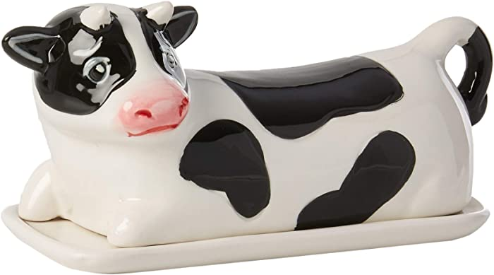 Boston Warehouse Udderly Cow Covered Butter Dish