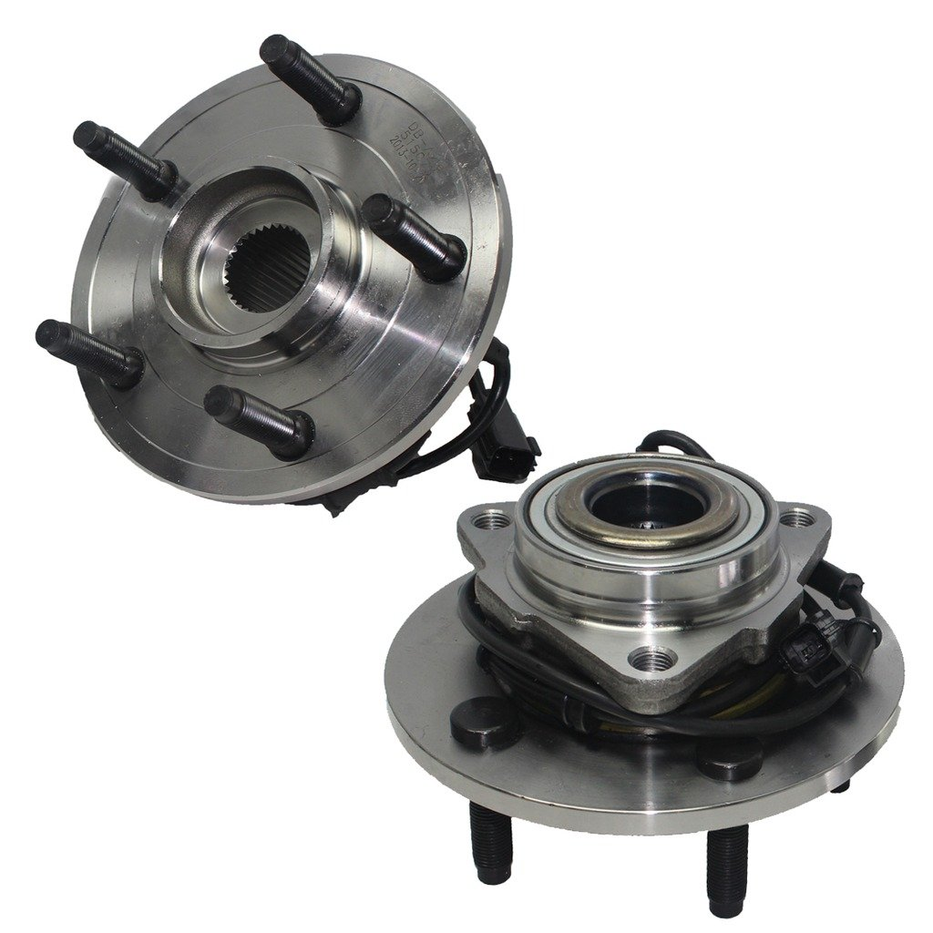 Detroit Axle 2 Brand New Front Driver and Passenger Side Wheel Hub and Bearing Assembly for - 02-05 Dodge Ram 1500 w/ABS