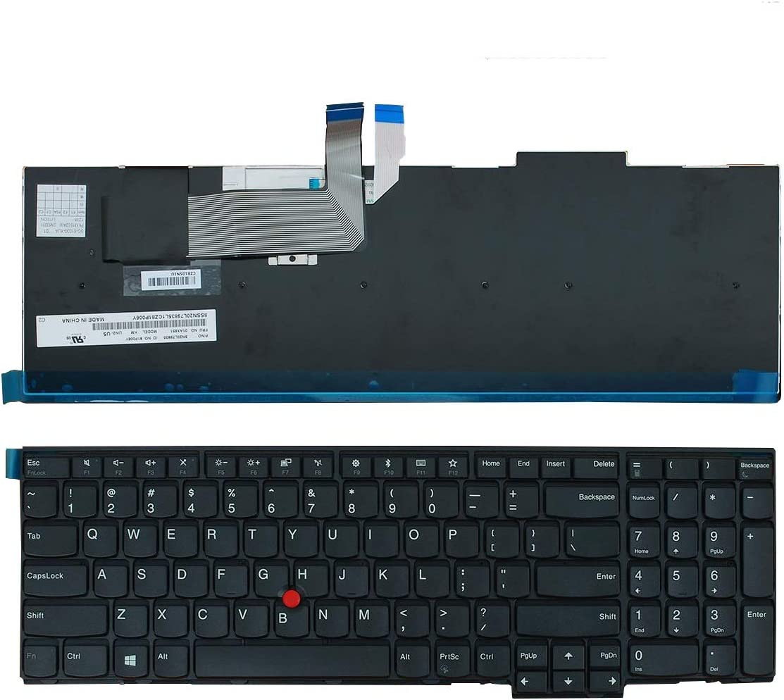 Replacement Keyboard for Lenovo ThinkPad T540 E531 W540 W541 W550 W550S T540P T550 Series, Fit P/N 0C45254 04Y2465 US English Laptop Keyboard