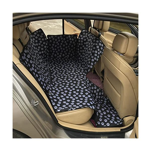 GOKKO Pet Cat Dog Car Seat Cover Portable Waterproof Non Slip Rear Back Mat Protector Safety Cushion For PetsCat Claw Pattern