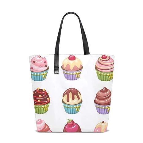 Amazon.com   Cupcakes Art Tote Bag Purse Handbag Womens Gym ...
