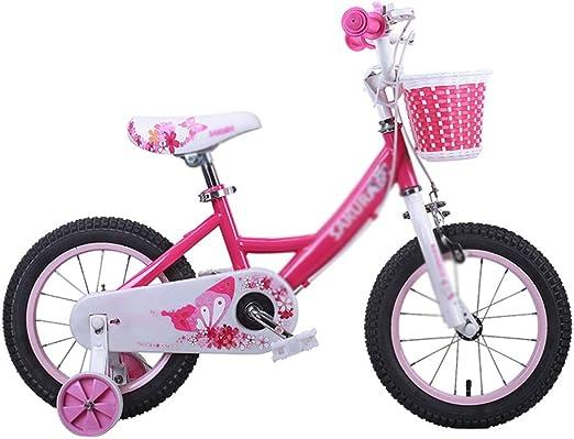 Bicicletas niños niña estabilizador Desmontable Ajustable 12/14/16 Pulgadas para niños Cochecito niña niño (Color : Pink, Size : 14inch): Amazon.es: Hogar