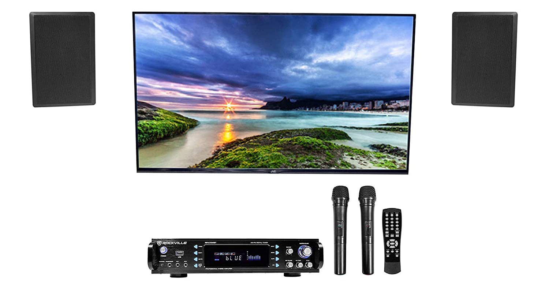 Rockville RPA70BT Bluetooth Home Karaoke Machine System+(2) 5.25