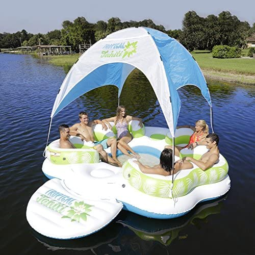 Amazon.com: Sun Pleasure Tahiti - Toldo flotante en la isla ...