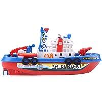 FTVOGUE Fireboat Toy Modelo de Barco de pulverización