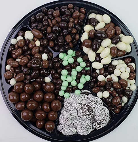 Chocolate Lovers Deluxe Gift Tray - Milk & Dark Chocolate Nuts, Cookies, Dried Fruit & More - Perfect for Birthdays, Parties, Sympathy Events ()
