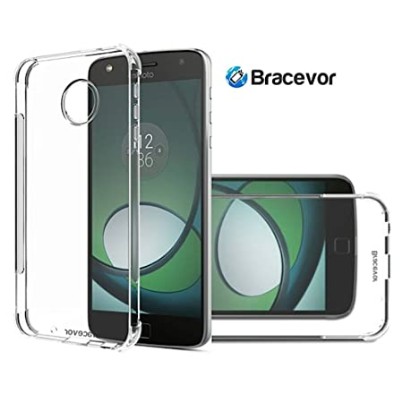 Bracevor Flexible Shockproof TPU Back Case Cover for Moto Z Play Cushioned Edges,Transparent Mobile Phone Cases   Covers