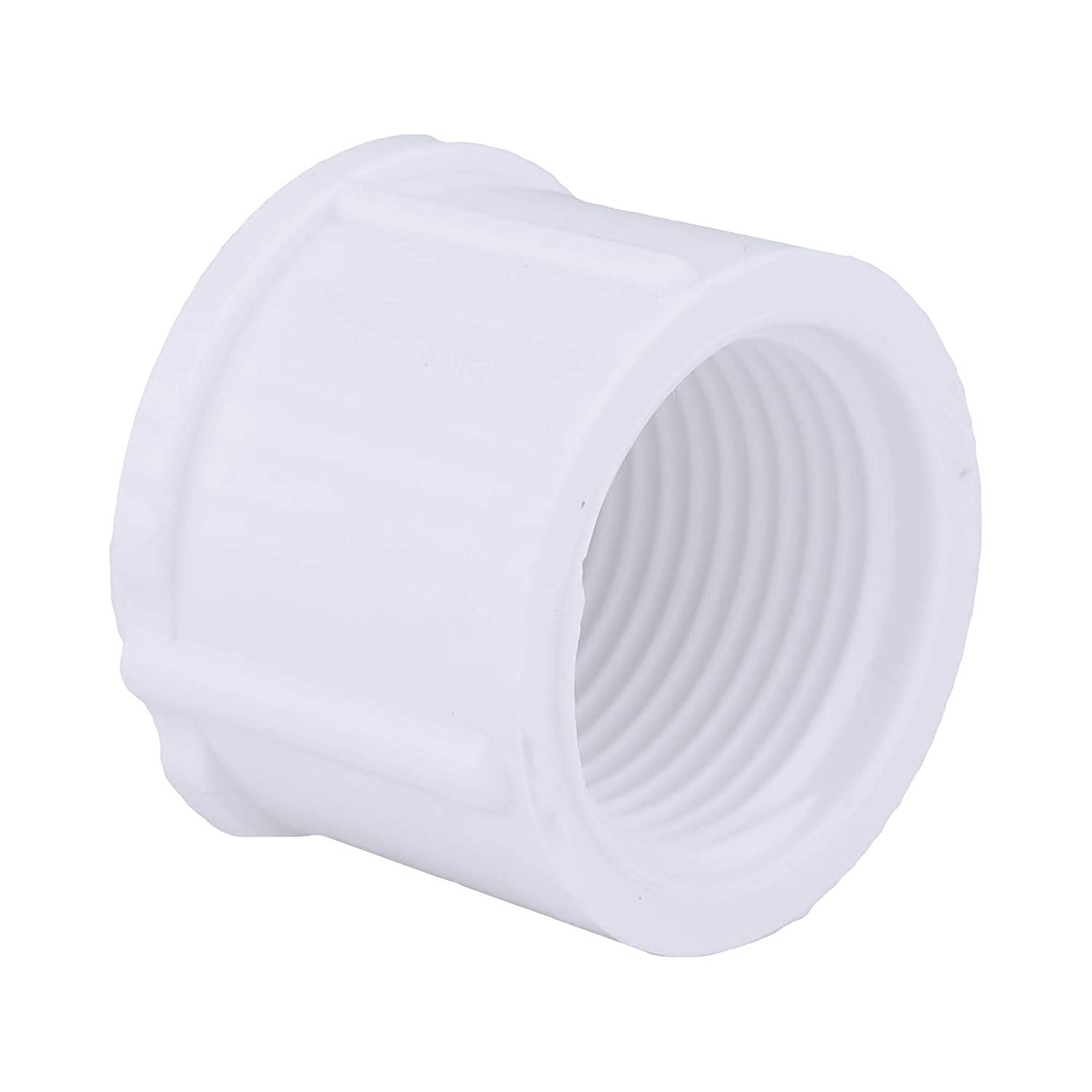 Easy to Install High Tensile and Sound Deadening for Home or Industrial Use Female Pipe Thread Schedule 40 PVC Durable Charlotte Pipe 1 Cap Bushing Pipe Fitting Single Unit