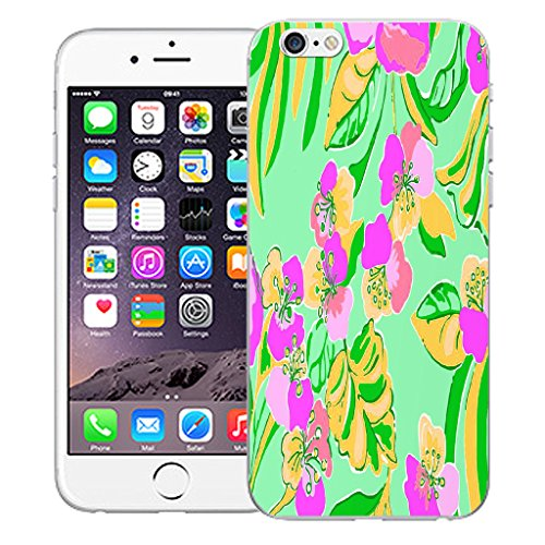 """Mobile Case Mate iPhone 6S Plus 5.5"""" Silicone Coque couverture case cover Pare-chocs + STYLET - Tropical Flower pattern (SILICON)"""
