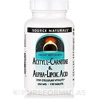 アセチルL-カルニチン&アルファリポ酸 120タブレット (海外直送品)