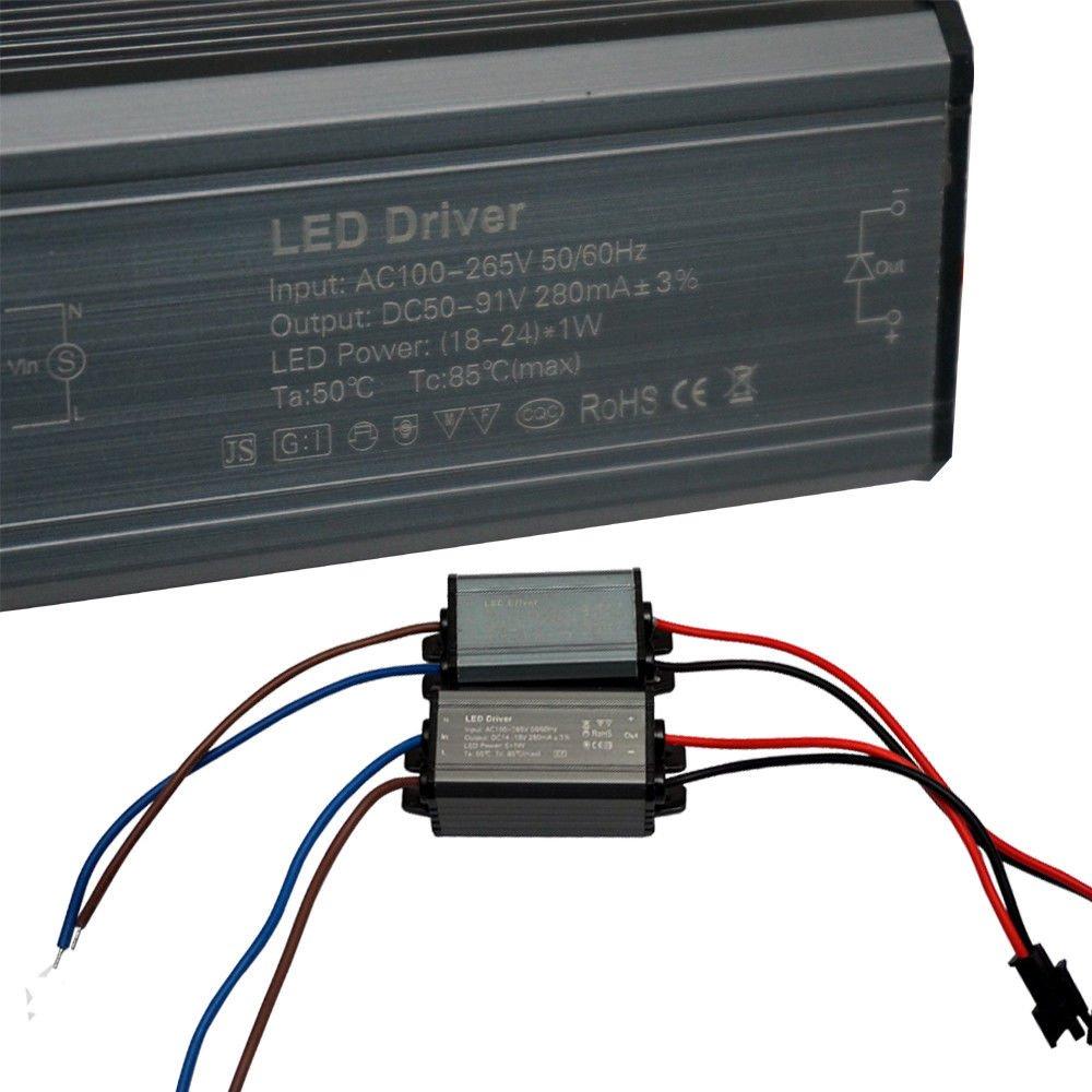 LED Power Driver Power Supply 280mA Constant Current Driver Transformer 3W//5W//24W//36W UK unidad de fuente de alimentaci/ón