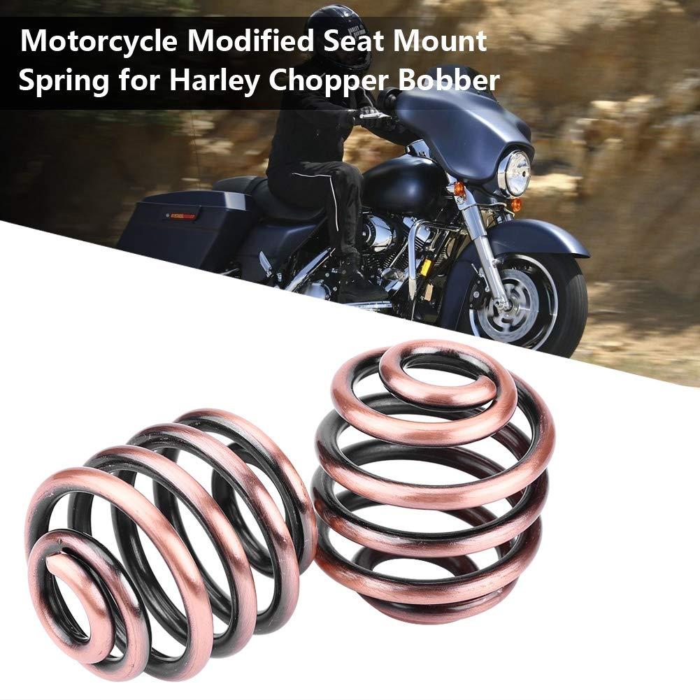 Hlyjoon 1 Par de Resortes de Asiento de Motocicleta Resorte de Montaje de Asiento Modificado Muelles De Asiento Accesorios De Motocicletas Acero Material