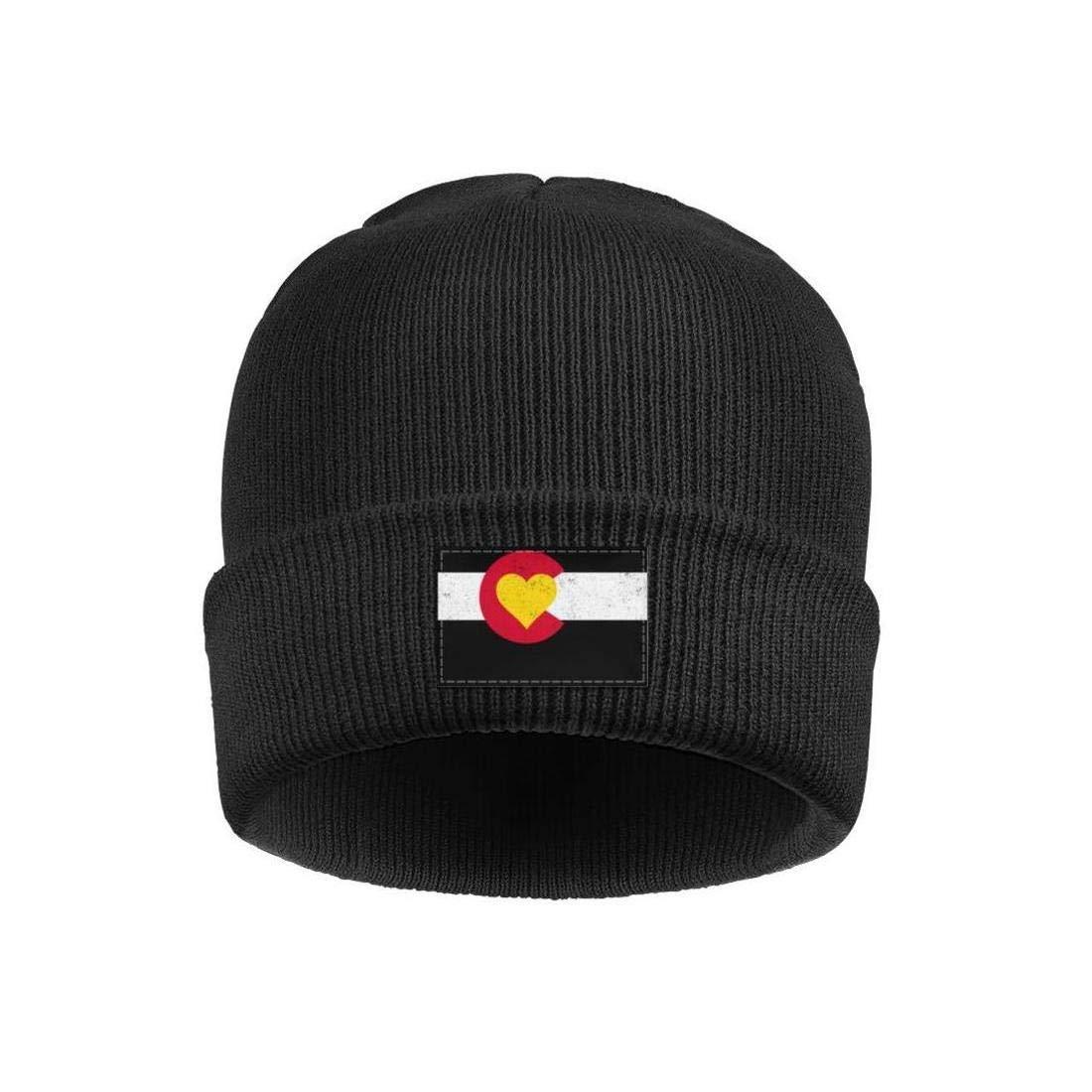 Mens Slouchy Beanie Hat Fine Knit Hats Colorado Love Flag Colorado on My Mind Warm Cap