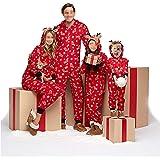 Pijamas una Pieza Familiares de Navidad, Conjuntos Navideños de Algodón Diseño de Rayas para Mujeres