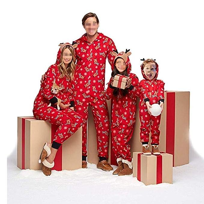 Pijamas una Pieza Familiares de Navidad, Conjuntos Navideños de Algodón Diseño de Rayas para Mujeres Hombres Niño Bebé, Ropa para Dormir Otoño Otoño ...