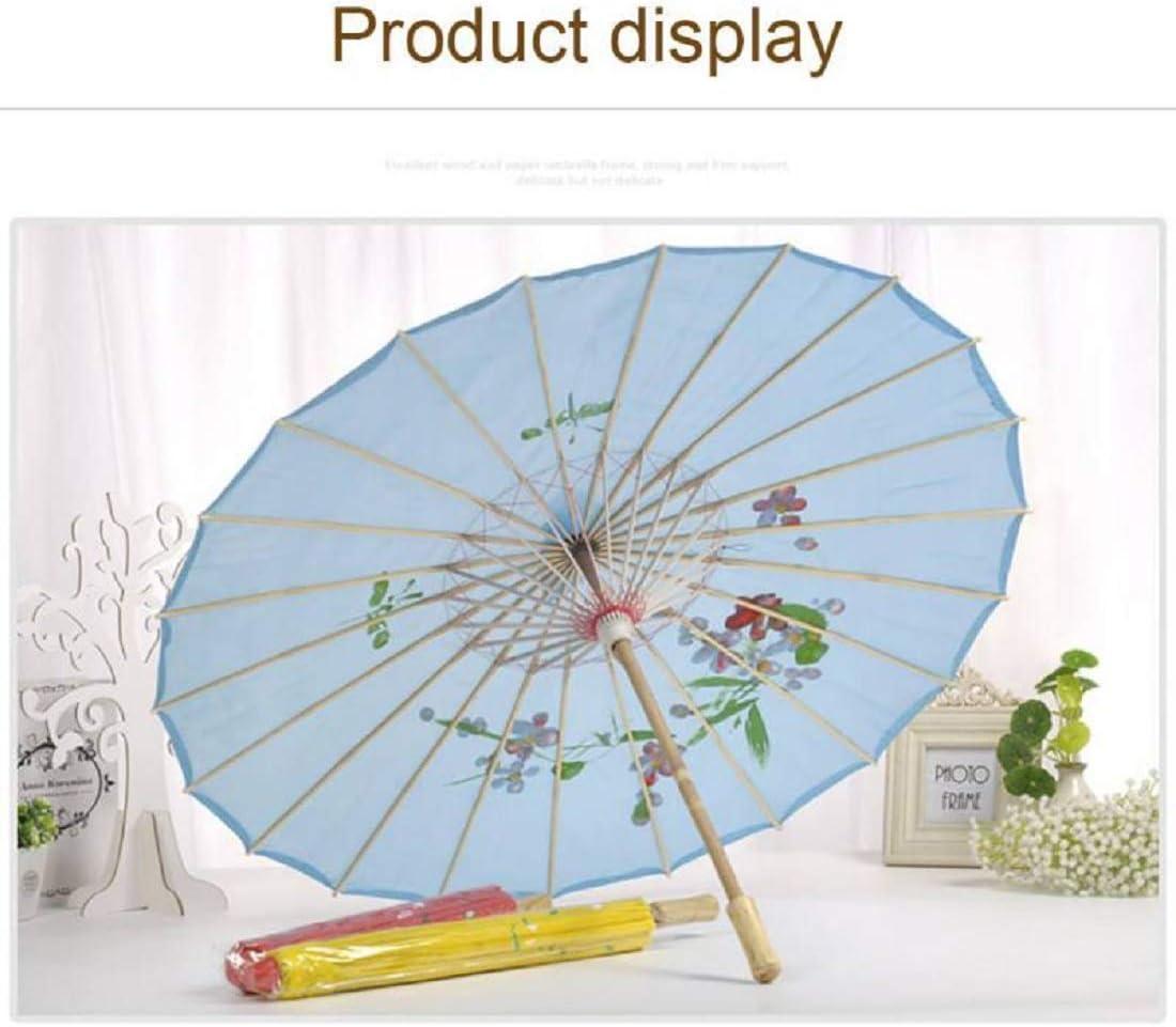 A 54 cm Chinois en Bambou Papier Parasol Parapluie,Vennisa Classique Mariage Tournage Parasol Fait /à La Main Ombrelle Mariage Parasol Mariage D/écor Danse Photo Cosplay Prop