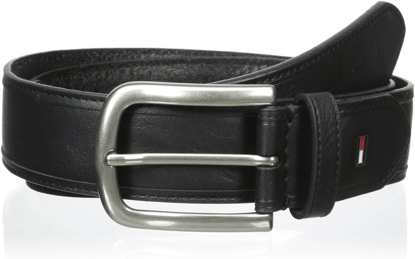 Tommy Hilfiger Reversible Belt for men with Polished Nickel Buckle Men/'s Belts