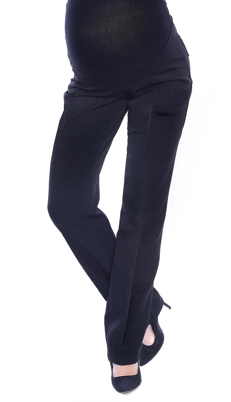 Mija - Elegante Schwangerschaftshose Umstandshose mit Bauchband 9076
