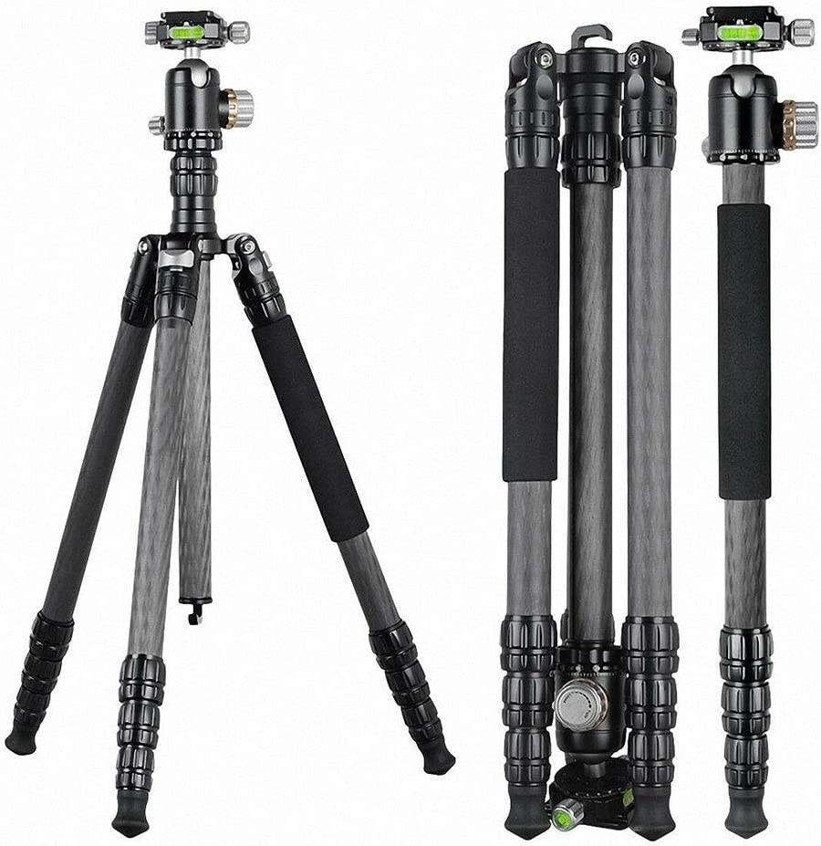 Portable Aluminum Camera Tripod Hand for SLR Digital Camera 360 Degree Panorama Ball Head Mengen88 Travel Camera Tripod Detachable Easy to Carry with Carrying case