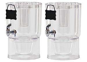 Buddeez Pary Top Beverage Dispensers , 1.75 Gallon, 2 Count