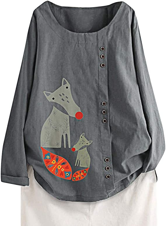 Luckycat Camisa Casual Femenina Tops para Mujer Sólida Camiseta de Manga Larga Loose Button Down Blusas Mujer Manga Larga Otoño Lino Camisas O-Cuello Botón Tops Tamaño S-5XL: Amazon.es: Relojes