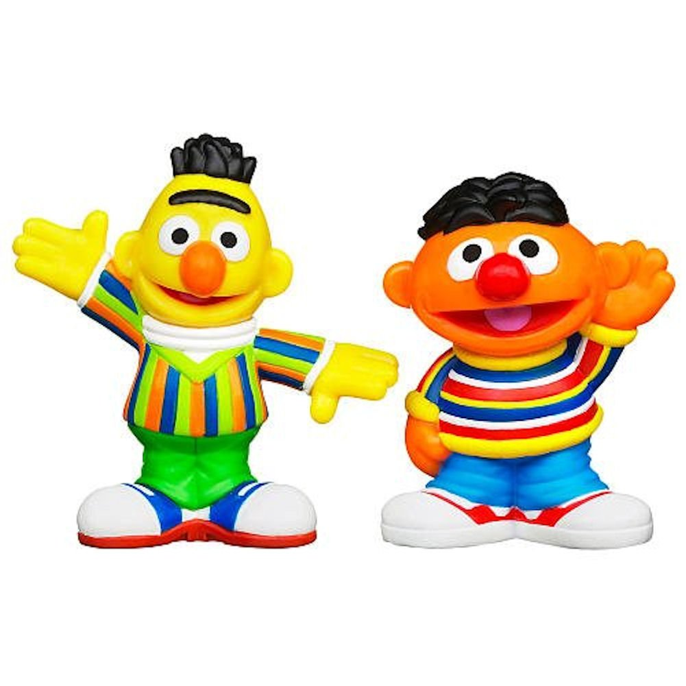 amazon com playskool sesame street figures 2 pack bert