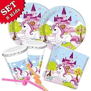 Unicornio de Juego, 52 piezas, Decoración de cumpleaños para ...
