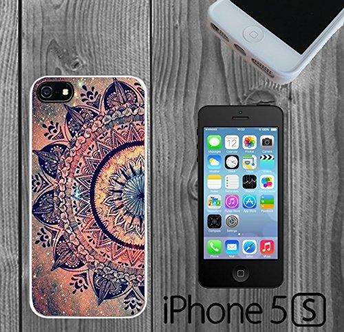 Mandala Datura Hippie Custom made Case/Cover/skin FOR iPhone 5/5s -White - Rubber Case