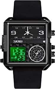Digital Boys Watch Camouflage Green Sports Military Style Alarm LED Backlight Stopwatch Waterproof