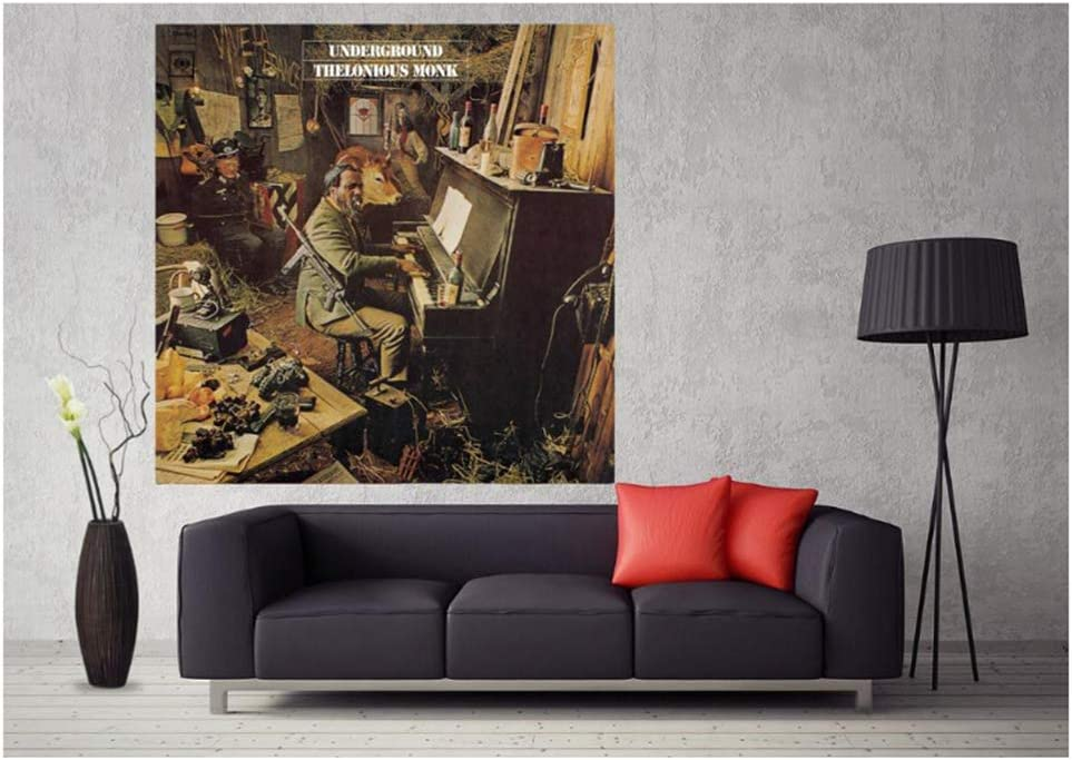 Chihie Thelonious Monk Underground Music Album Cover Poster Art Canvas Print Wall Art Home Decor Office poste-50X50cm No Framed