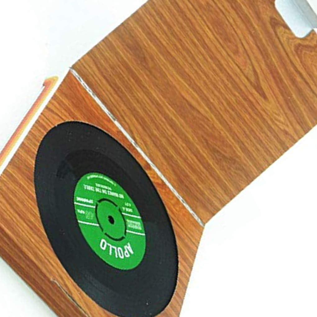 Chowcencen 6 Piezas de CD Vinilo Coaster Estera portavasos Copa Grabar CD Holder Mat Vajilla Mantel de Cristal del t/é del coj/ín Decoraci/ón