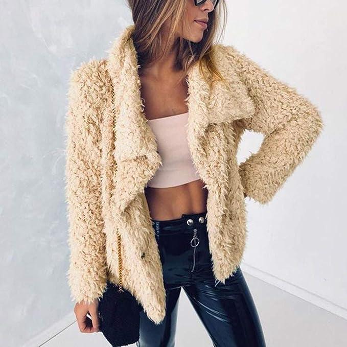 VJGOAL Invierno Mujer Moda Casual Cálido, Suave y cómodo Faux Fur ...