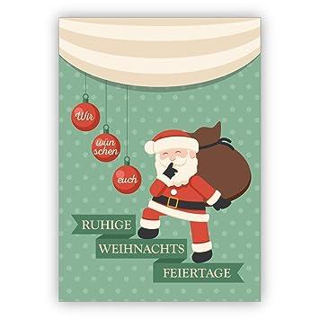 Weihnachtsgrüße Privat.Unternehmen Weihnachtskarten Set 16stk Eichhorn Liebes
