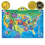 BEST LEARNING i-Poster My USA Interactive Map - Educational Talking Toy for Kids