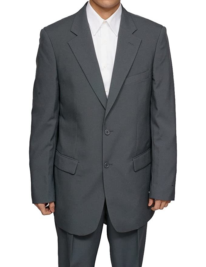 New Men's 2 Button Single Breasted Gray Dress Suit - Includes Jacket and Pants