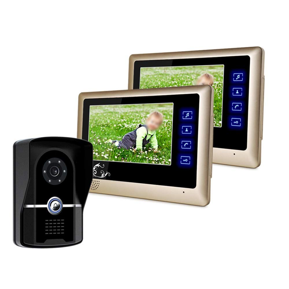 KRPENRIO 7 inch fashion new touch button video doorbell one pair two by KRPENRIO (Image #2)