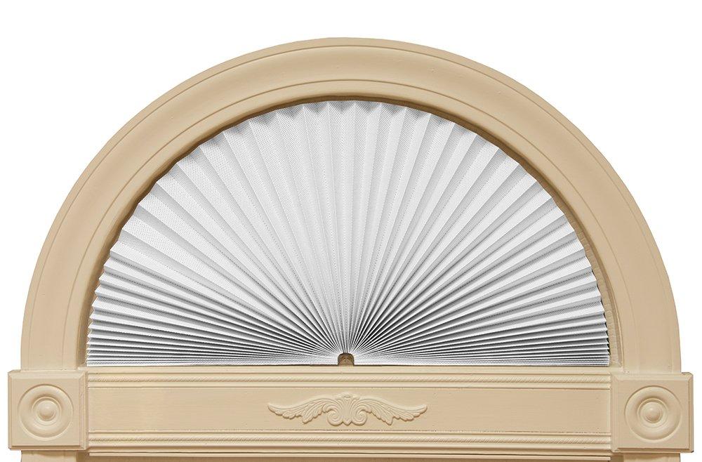 Redi Shade 3607878 White, 72'' x 36'' Original Arch Sheer View Solar Fabric Shade, by Redi Shade