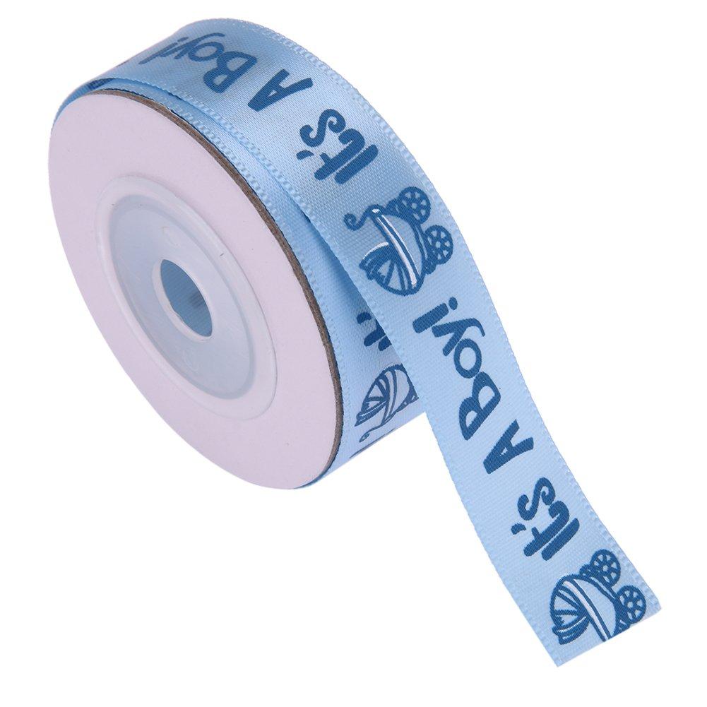 Azul JUNERAIN 10 Yardas//Rollo ES UN NI/ÑO//Muchacha Cinta de Baby Shower Cinta Grosgrain Ribbon Gift