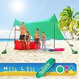 HappySummer Beach Tent with sandbag Anchors—The Portable