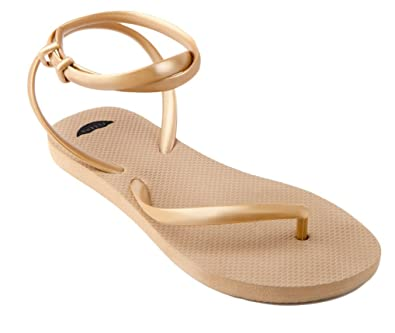 f633253d9dbb FLEEPS Women s Gold Flip Flop Sandals 5