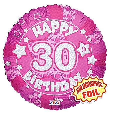 Globo de helio redondo de 45,7 cm, 30 cumpleaños (no inflado ...