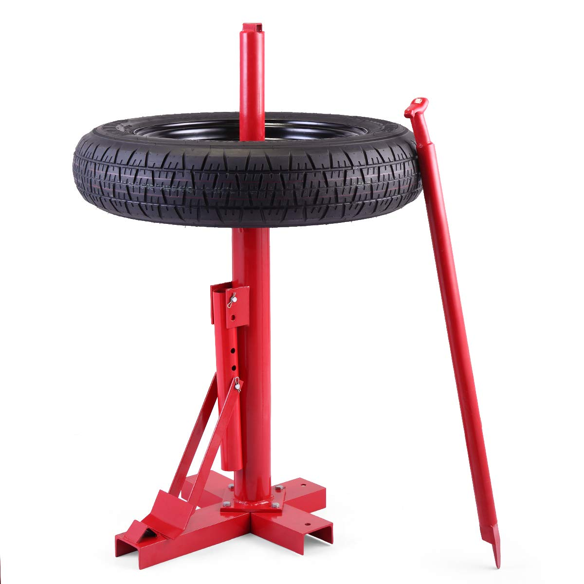 JAXPETY Red New Tools Tire Changer Manual Tire Changer Heavy Duty Changer Bead Breaker by JAXPETY